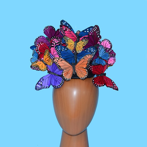 The Beatrice - Custom Feather Butterfly Hatinator Headpiece Hat Royal Ascot