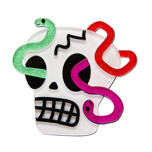 Creepy Cranium Brooch by Erstwilder | Skulls & Snakes