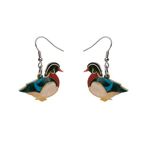 Mallard Ballard Drop Earrings by Erstwilder | Mallard Duck