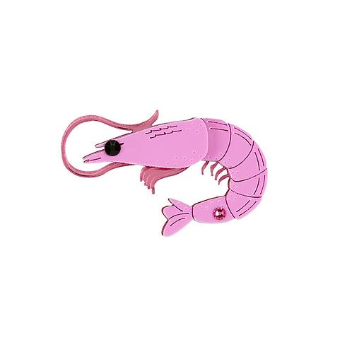 Prawn Brooch by Little Moose | Pink Shrimp