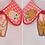 Thumbnail: RED KEWPIE COLLA COLLAR by InterroBangBang  | Blonde or Brunette Baby