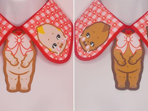 RED KEWPIE COLLA COLLAR by InterroBangBang  | Blonde or Brunette Baby