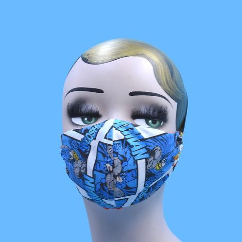 Batman Comics Face Mask  w/ Filter Pocket