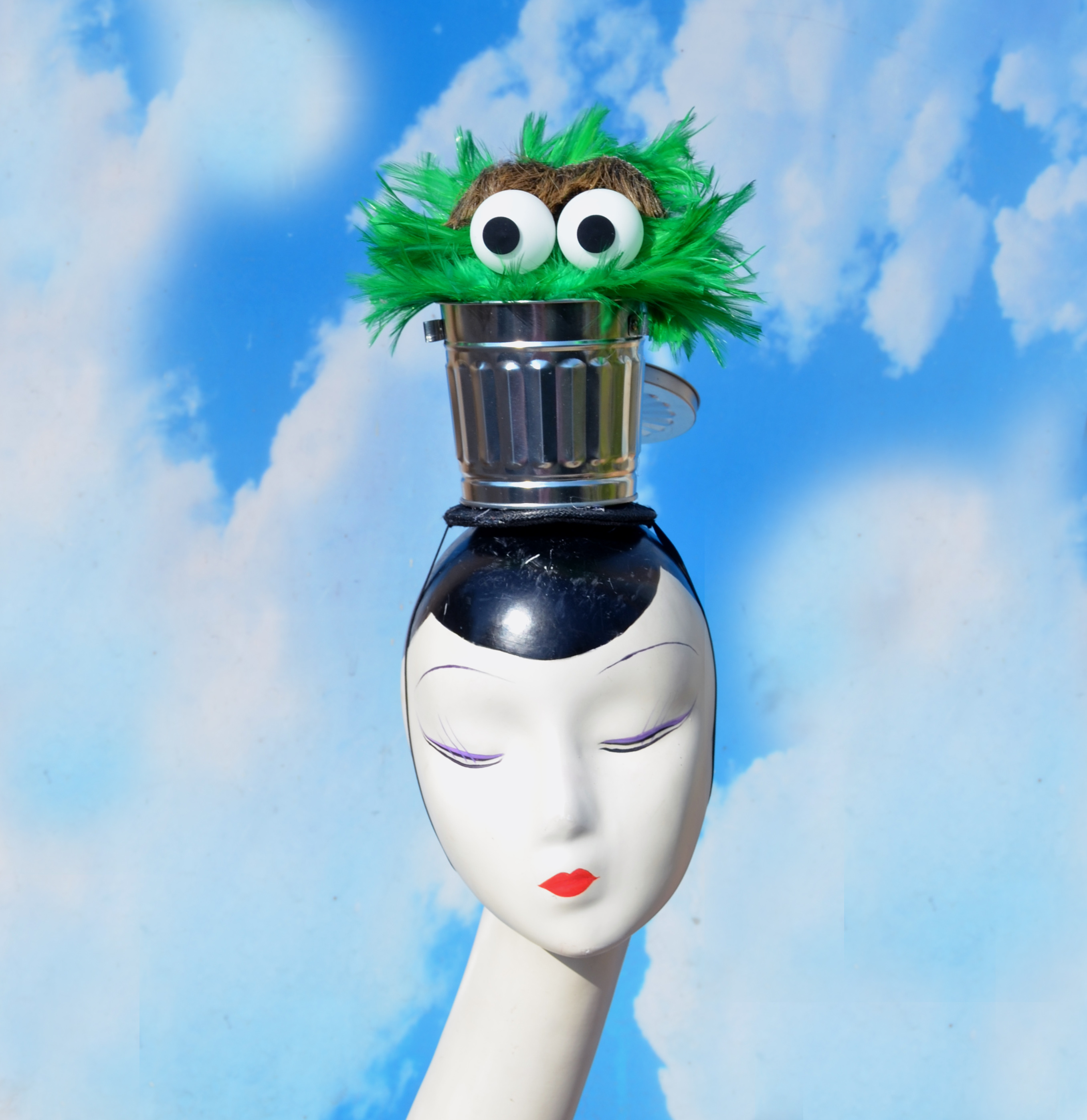 Sesame Street Oscar the Grouch Trashcan  Costume Hat