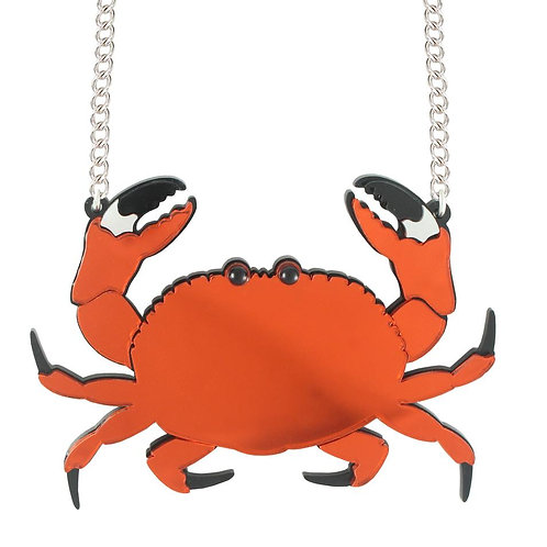 Crab Necklace by Lou Taylor