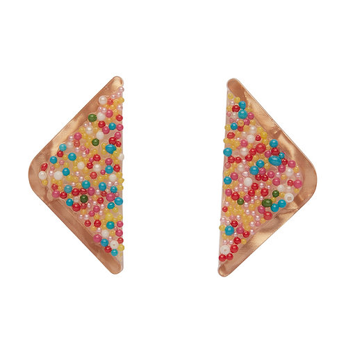 Fairy Bread Earrings by Erstwilder | Toast w/ Sprinkles Bread