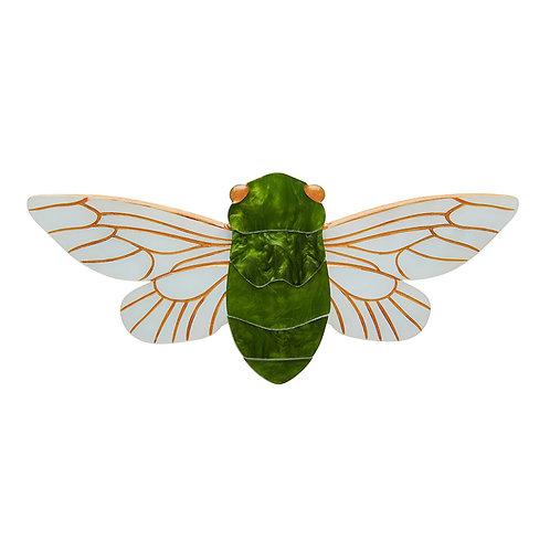 The 17-Year Sleep Brooch by Erstwilder | Green Cicada