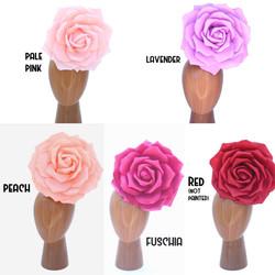30cm Red & Pink Foam Rose Floral Headdre