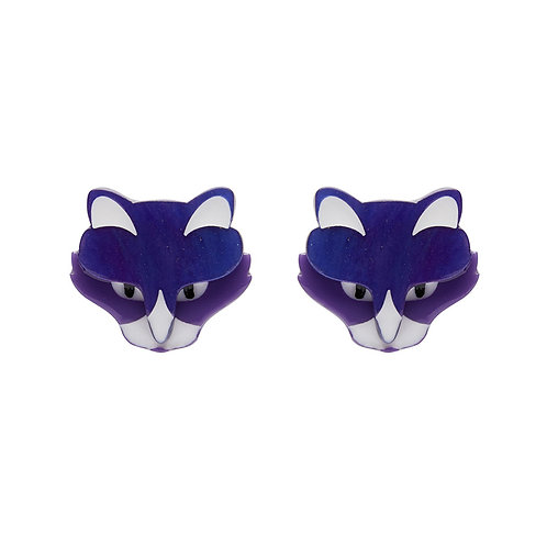 LeBeau the Luscious Earrings by Erstwilder | Purple Cat, Kitty