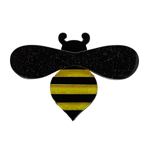 Babette Bee Brooch by Erstwilder | Yellow & Black