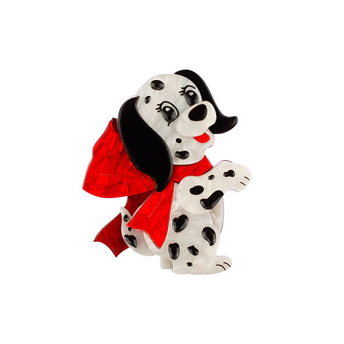 One in One Hundred and One Brooch by Erstwilder | Dalmatian Dog