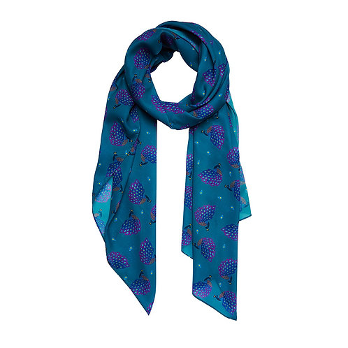 Le Peacock Royal Large Neck Scarf by Erstwilder   Blue Peacock