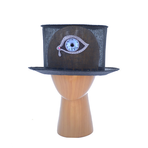 "Surrealist Salvador Dali ""Eye of Time"" or Mouth Black Top Hat"