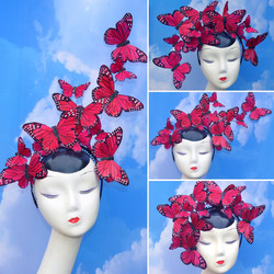 Red Butterfly Issie Headband