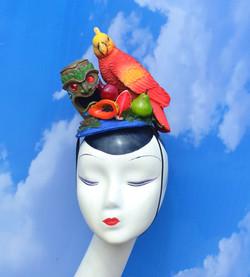 Red Parrot Enchanted Tiki Room Disney Fascinator