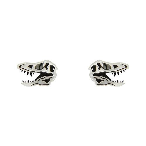 Bad to the Bone Earrings | T-Rex Fossil Skull