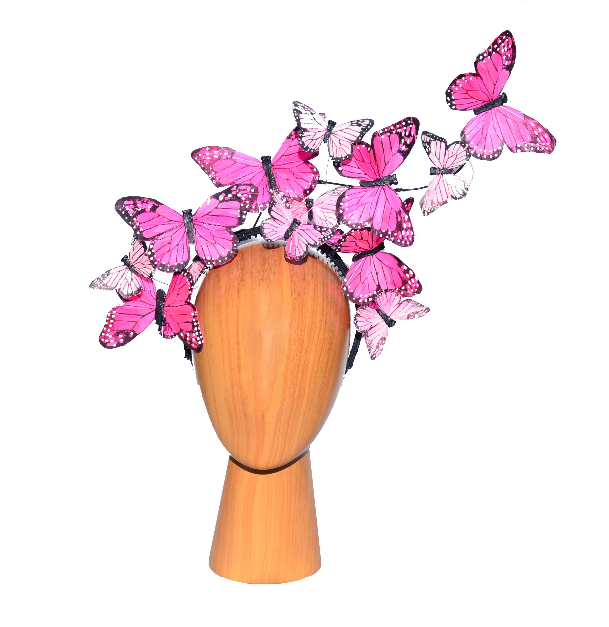 The Issie - Pink Feather Butterfly Fasci