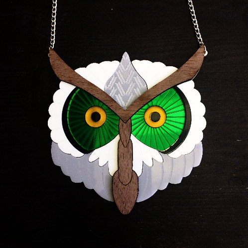 Barn Owl Statement Necklace by MissJ Designs   Egyptian Collection