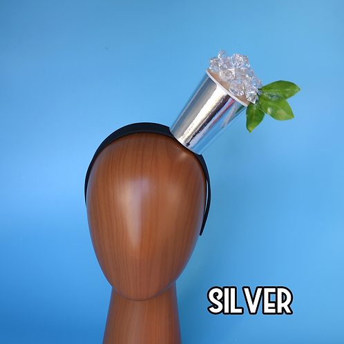 Mint Julep Headband | Official Drink of the Kentucky Derby | Silver Cup