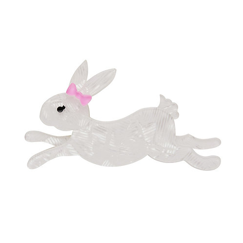 Marshmallow Rabbit Brooch by Erstwilder | White Bunny