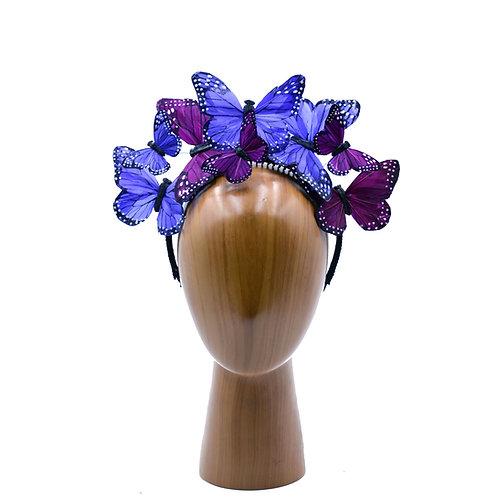 "The ""Anna"" - Mixed Purple Butterfly Fascinator Headband"