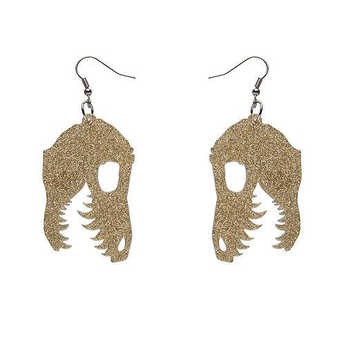 Fossil Glitter Resin Drop Earrings - Gold