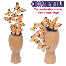 Orange Effie Butterfly Fascinator Hat.jp