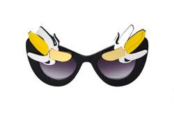 Warhol Yellow Banana Black Sunglasses