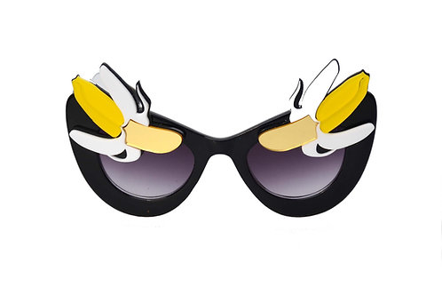 Yellow Banana Eyebrows Sunglasses