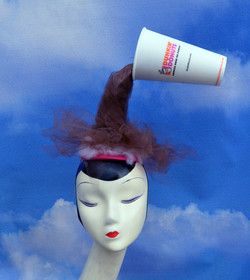 Dunkin Donuts Spilled Coffee Costume Hat (1)