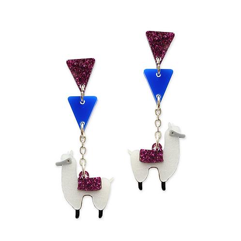 Alpaca Dangly Earrings by Little Moose