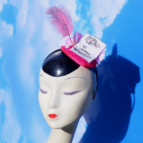 "Pink Valentine's Day ""Do You Like Me?"" Gravity Falls Love Note Fascinator"