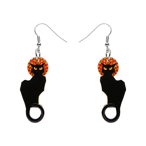 Le Chat Noir Earrings by Erstwilder   Black Cat