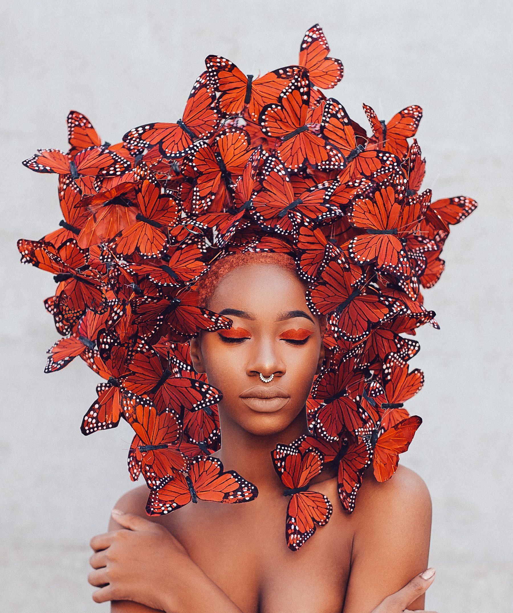 Red McQueen Butterfly Hat