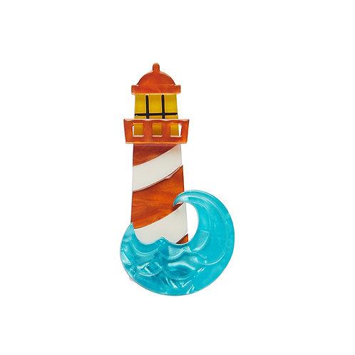 Round the Twist Mini Brooch by Erstwilder | Red Lighthouse