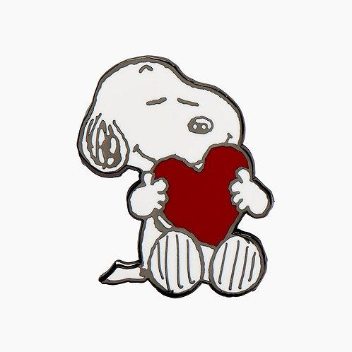 Snoopy's Big Heart Enamel Pin by Erstwilder | PEANUTS