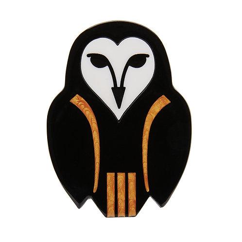 Owl Ornamental Brooch by Erstwilder   Owl