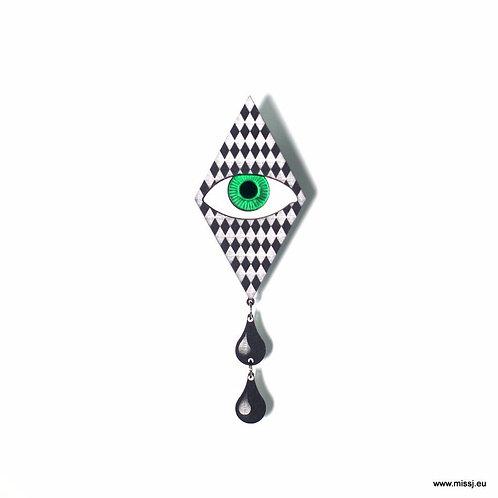 Pierrot Tears Brooch by MissJ Designs