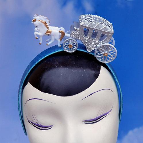 Cinderella Blue Glitter Princess Coach Carriage Headband