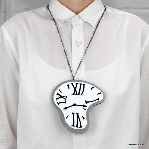 Surrealist Dali Melting Clock Necklace by MissJ Designs