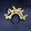 "Thumbnail: The ""Anna"" - 14K Metallic Gold or Silver Butterfly Fascinator Headband"