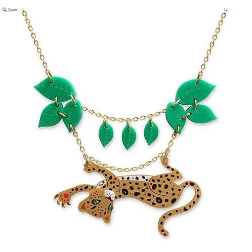 Leopard Leaf Necklace by Little Moose