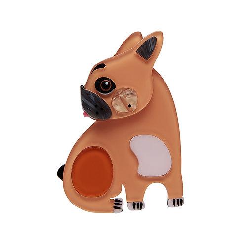 Luce the French Bulldog Brooch by Erstwilder | Pete Cromer Brown Dog