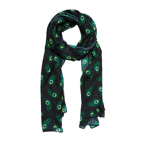 The Royal Eye Large Neck Scarf by Erstwilder | Green Peacock