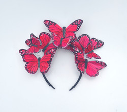 The Anna Red Monarch Butterfly Headband