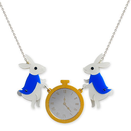White Rabbit Necklace by Little Moose | Alice in Wonderland