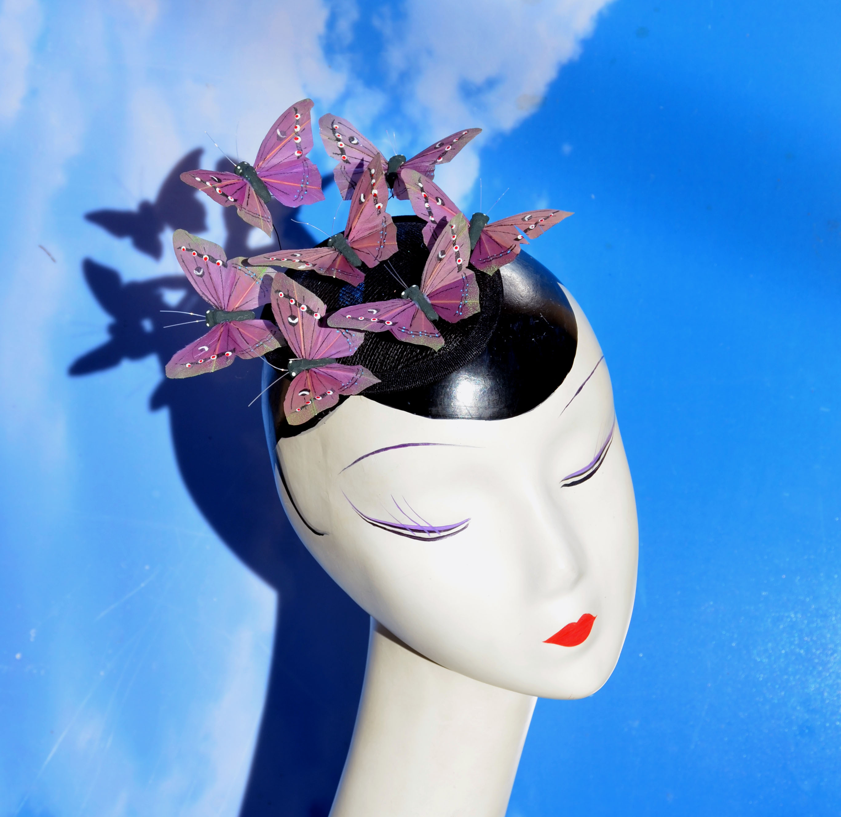Brown Moth Butterfly Fascinator Hat