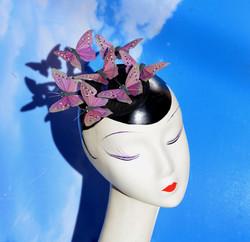Brown Moth Butterfly Fascinator Hat
