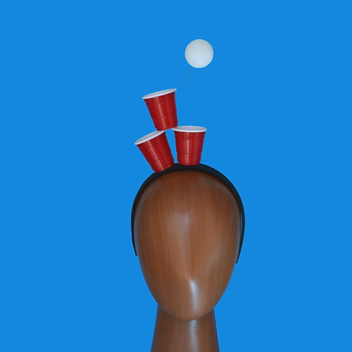 Beer Pong and Red Solo Cups Headband or Fascinator Hat | Bachelor Party