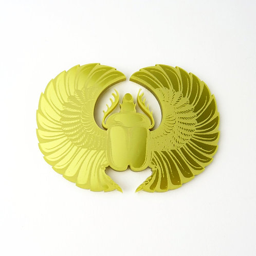 Scarab Beetle Disc Brooch by MissJ Designs | Egyptian Collection